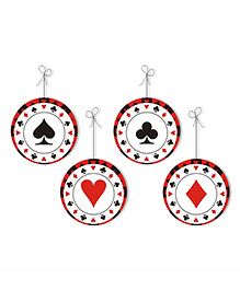 Prettyurparty Casino Danglers- Black And Red