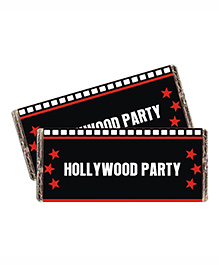 Prettyurparty Hollywood Chocolate Wrappers- Red And Black