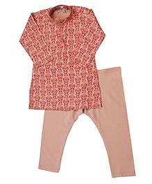 Earth Conscious Organic Cotton Kurta Pajama Set - Cream