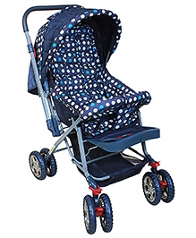 DealBindaas Pram Baby Day Out Polka Dots - Blue