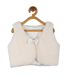 My Lil Berry Shrug with Bow - White