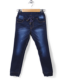 Button Noses Full Length Jeans - Dark Blue