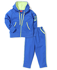 Kanvin Hooded Jacket And Pant Set - Royal Blue