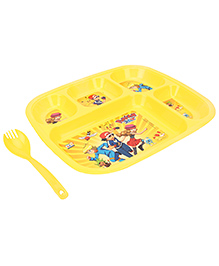 Pokemon Dinner Plate Yellow - 5 Compartments