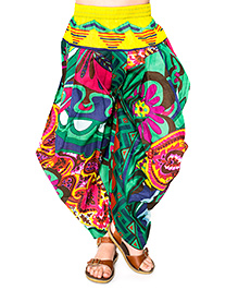 Yo Baby Harem Pants - Green & Yellow