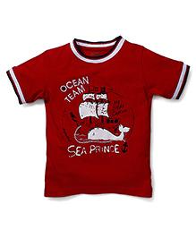 Babyhug Half Sleeves T-Shirt Graphic Print - Red