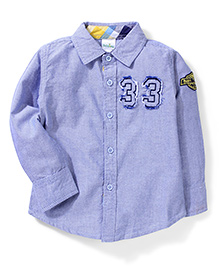 Babyhug Full Sleeves Shirt 33 Patch - Light Steel Blue