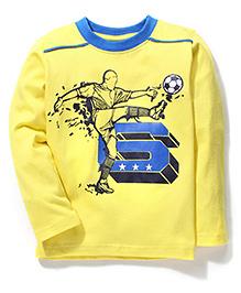 Taeko Full Sleeves T-Shirt Graphic Print - Yellow