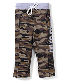 Babyhug Camouflage Full Length Pant 1895 Patch - Brown