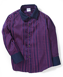 Babyhug Full Sleeves Shirt Self Pattern - Purple