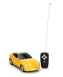 Remote Controlled Toy Car -  Yellow And Grey