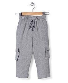 Babyhug Plain Track Pants - Grey