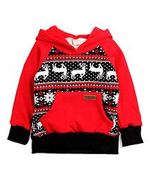 Tickles 4 U Hooded Sweatshirt  - Red & Black