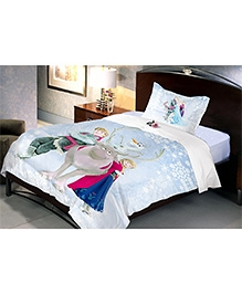 Uber Urban Disney Frozen Single Cotton Bedsheet And Pillow Cover