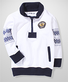 Gini & Jony High Neck Sweatshirt With Patch - White