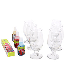 Toy Kraft Glass Painted Sparkling Gel Candles
