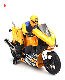 Fab And Funky Remote Controlled Bike Toy - Yellow