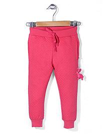 Sela Track Pant With Drawstring - Dark Pink