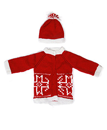 The Original Knit Sweater Set - Red & White