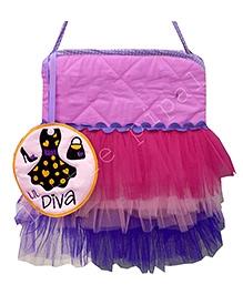 Little Pipal Diva Print Tutu Tote Bag - Multicolor