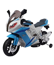 Happykids Battery Operated Ride On Motorbike with Lights And Music - Blue
