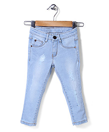 Vitamins Full Length Ice Wash Jeans - Light Blue