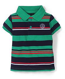 Noddy Original Clothing Half Sleeves Striped T-Shirt - Green
