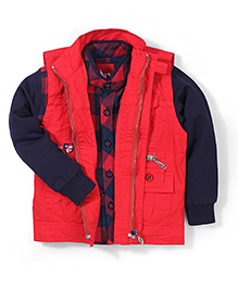 Noddy Original Clothing Full Sleeves Shirt With Jacket - Red