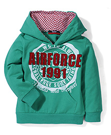 Noddy Original Clothing Hooded Sweatshirt Air Force Patch - Green