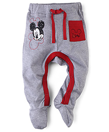 Disney by Babyhug Bootie Legging One Front Pocket - Grey & Red