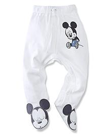 Disney by Babyhug Bootie Legging Mickey Patch - White