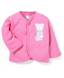Pink Rabbit Full Sleeves Vest Champion Print - Pink