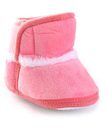 Cute Walk Baby Booties - Peach