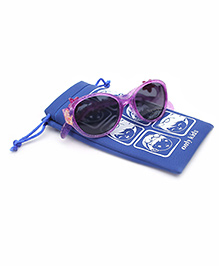 Barbie Kids Sunglasses With Pouch - Purple