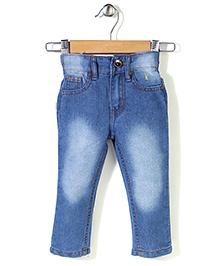 Babyhug Full Length Denim Jeans - Light Blue