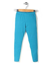 Ollypop Full Length Plain Leggings - Light Blue