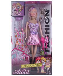Fab n Funky Atinil Fashion Doll Set Purple -  29 cms