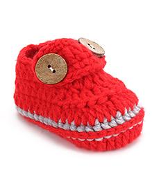 Cute Walk Shoe Style Booties - Red