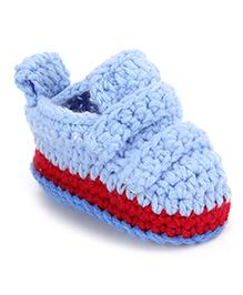 Cute Walk Shoe Style Booties - Sky Blue Red