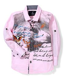 Chase Eagle Print Shirt - Pink