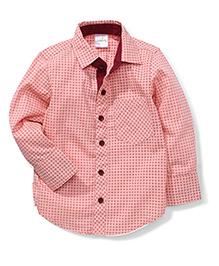 Babyhug Full Sleeves Shirt Dot Print - Light Pink