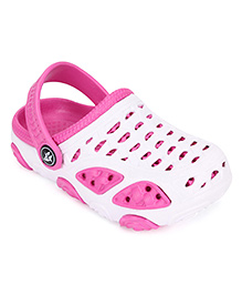 Cute Walk Clogs With Back Strap - Pink White