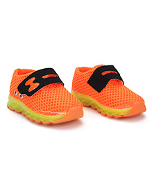 Cute Walk Casual Shoes With Velcro Closure - Orange