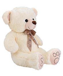 Dimpy Stuff Teddy Bear With Bow Lace Cream - 55 Cm