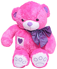 Dimpy Stuff Teddy Bear With Bow - Pink