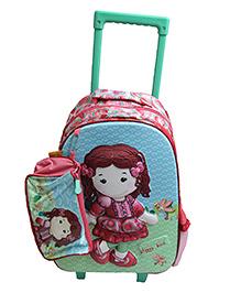 Gamme Beauty Girls Kids Trolley Backpack Pink - H 15 cm