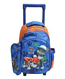 Gamme Paw Patrol Kids Trolley Backpack Blue - H 15 cm