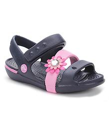 Crocs Sandals With Velcro Closure - Dark Navy