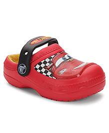 Crocs Clogs With Back Strap Car Design - Red