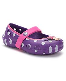 Crocs Polka Dot Clogs Minnie Mouse Motif - Purple